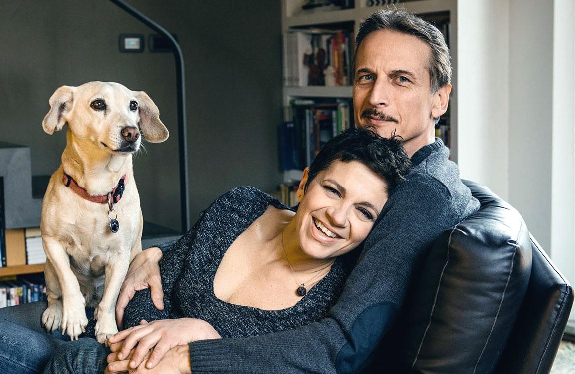 Cesare Bocci con la moglie Daniela Spada