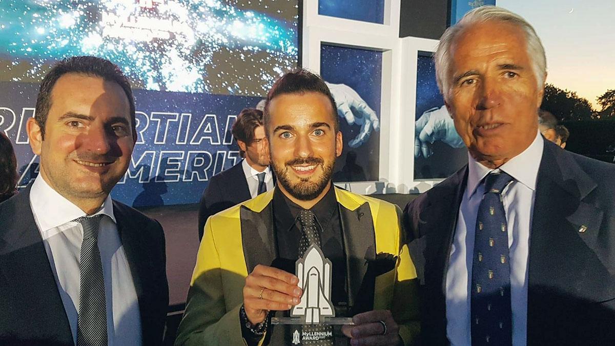 Daniele Bartocci con il Ministro Spadafora e il Presidente del CONI Malagò