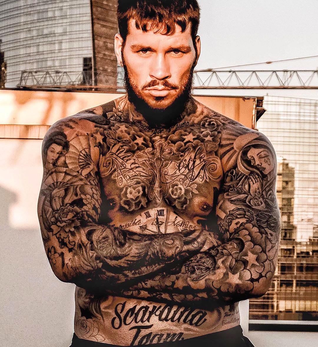 Daniele Scardina tatuaggi