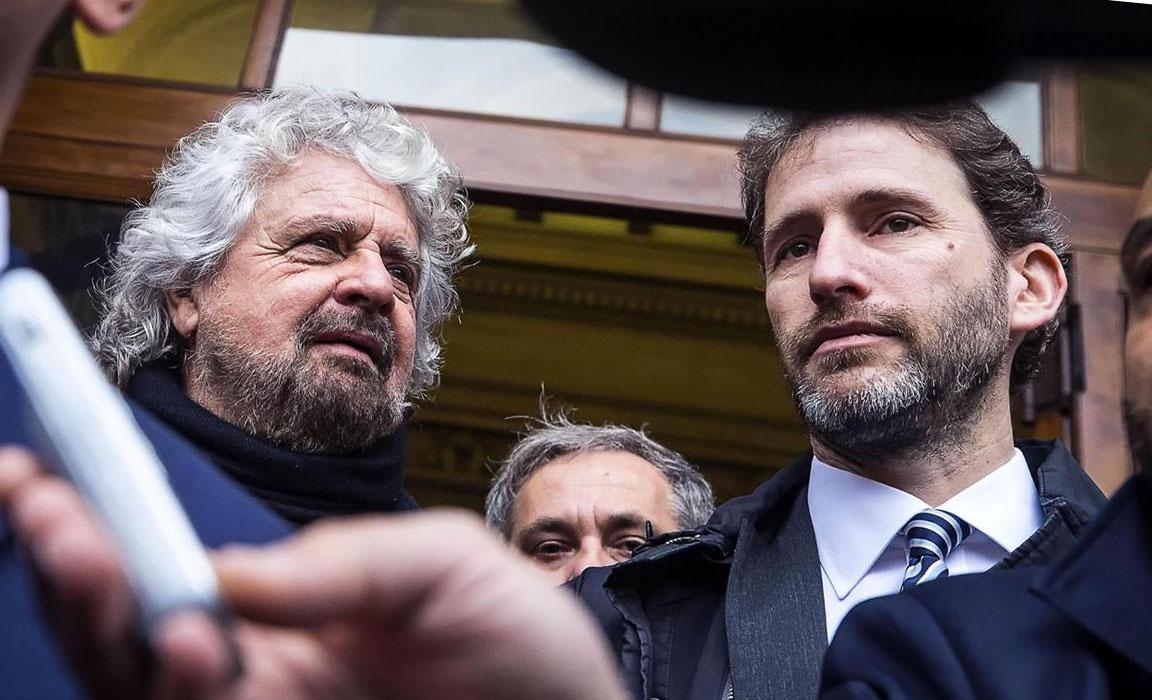 Beppe Grillo con Davide Casaleggio