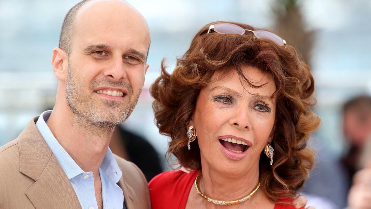 Edoardo Ponti con Sophia Loren