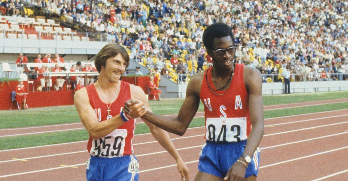 Edwin Moses e Michael Shine - Olimpiadi di Montreal 1976