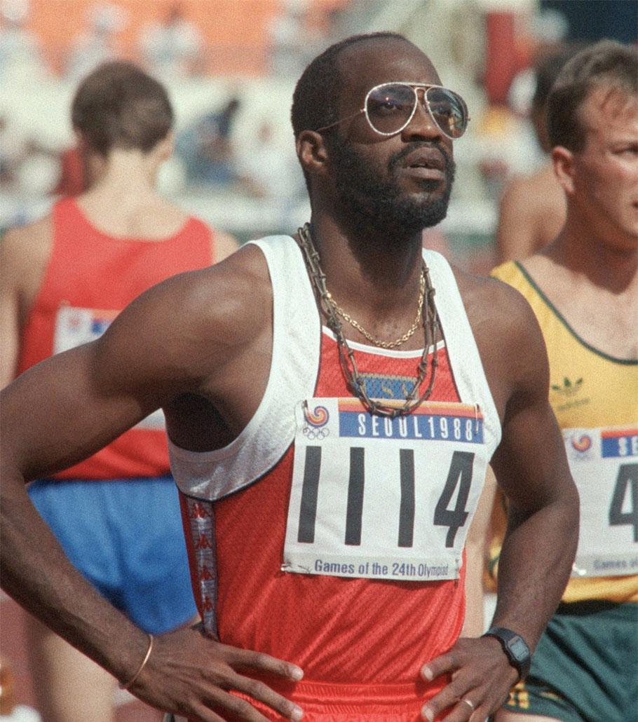 Edwin Moses nel 1988 a Seul