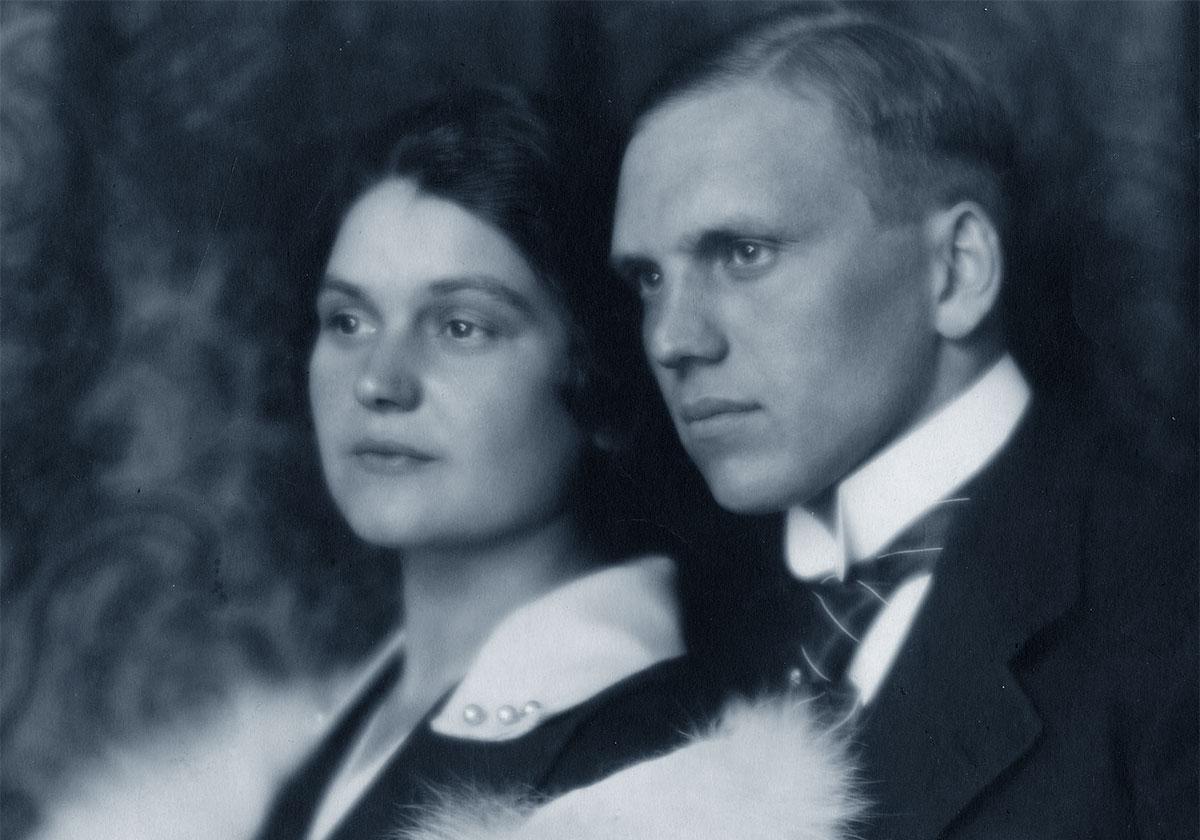 Eliška Junková con il marito Vincenc Junek