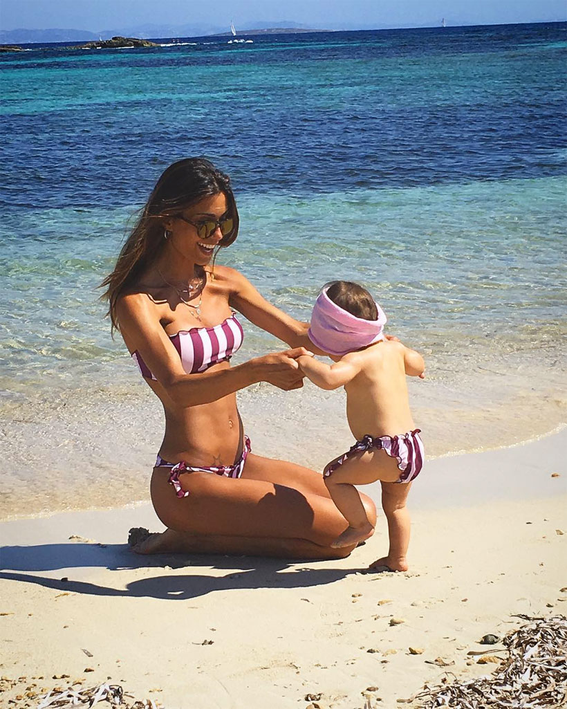 Federica Nargi con la figlia Sofia
