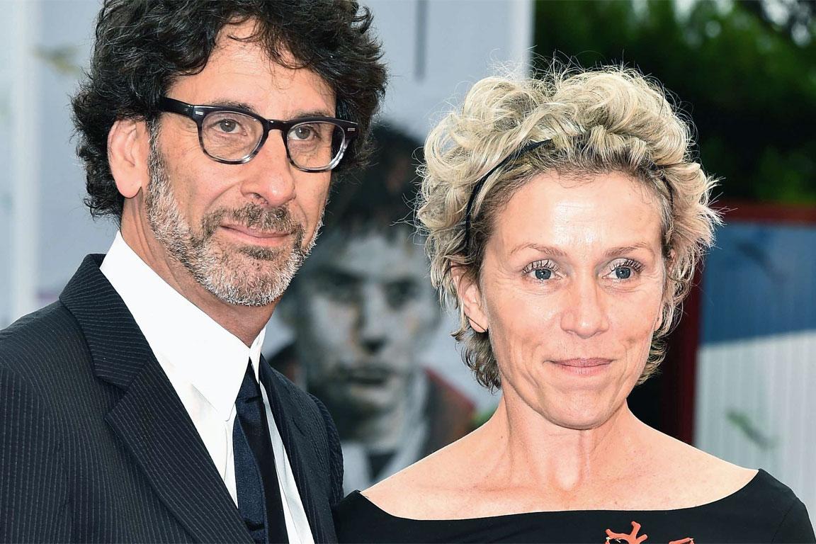 Frances McDormand con il marito Joel Coen