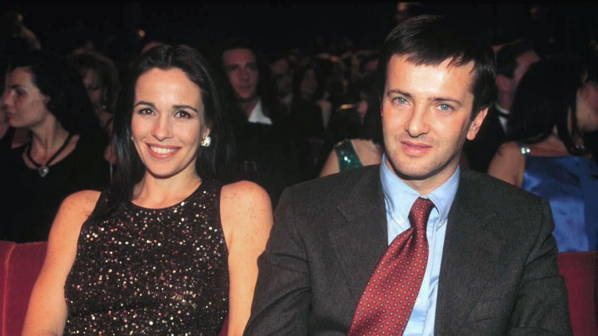 Giorgio Gori giovane con la moglie Cristina Parodi