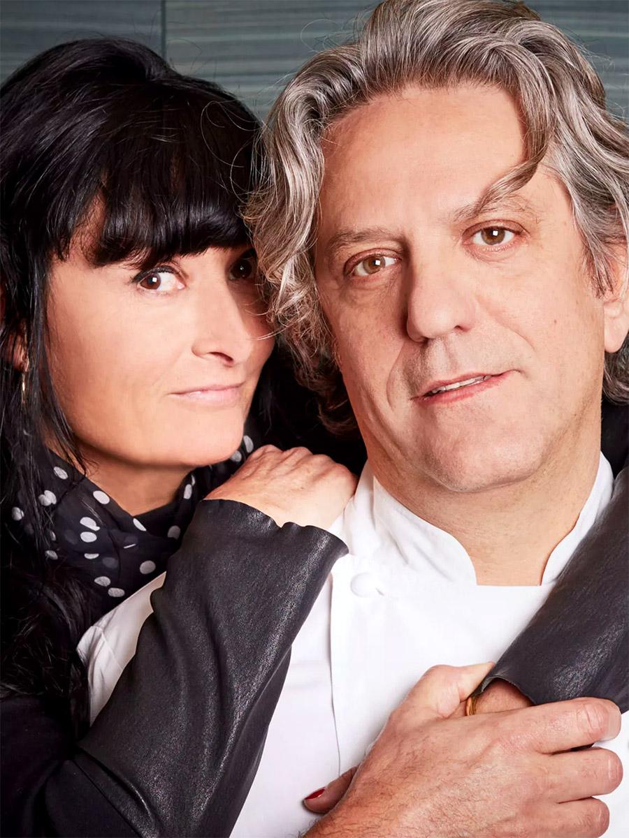 Giorgio Locatelli con la moglie Plaxy