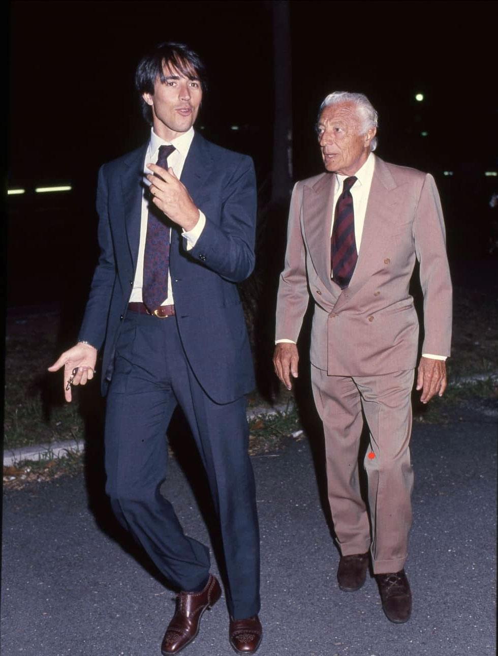Giovanni Malagò con Gianni Agnelli