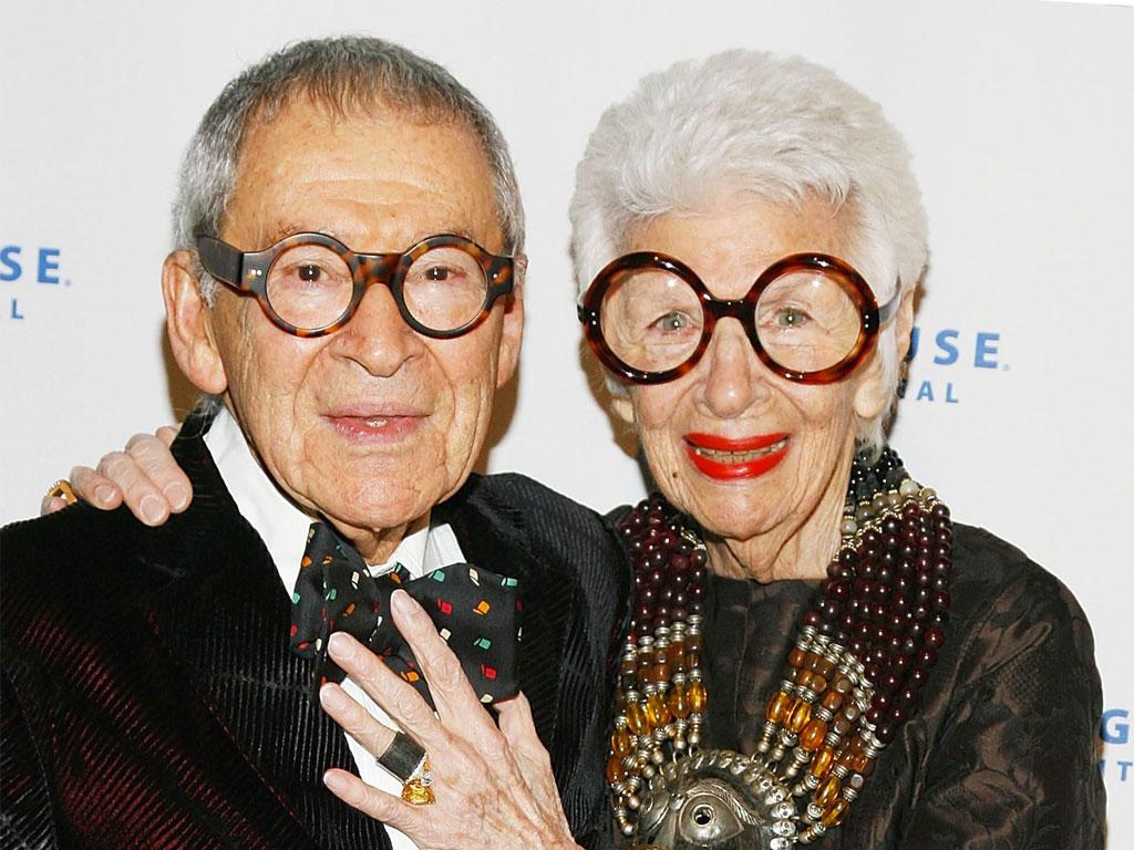 Iris Apfel con il marito Carl
