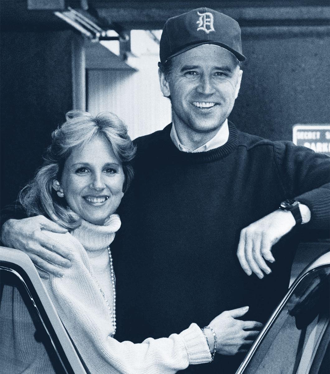 Jill e Joe Biden giovani
