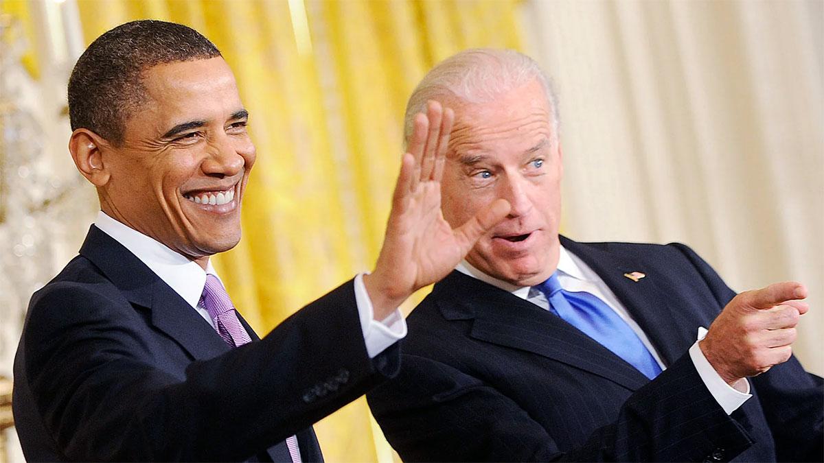 Joe Biden con Obama