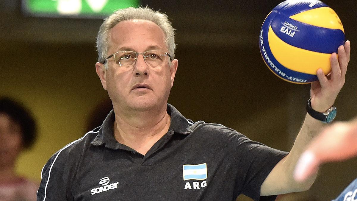 Julio Velasco con la nazionale argentina