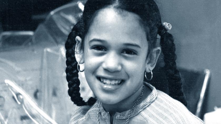 Kamala Harris bambina