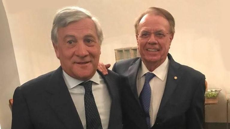 Lamberto Marcantonini con Antonio Tajani