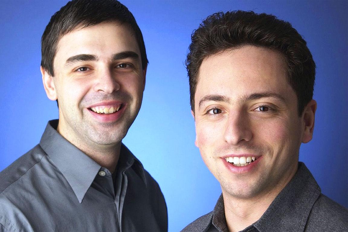 Larry Page con Sergey Brin