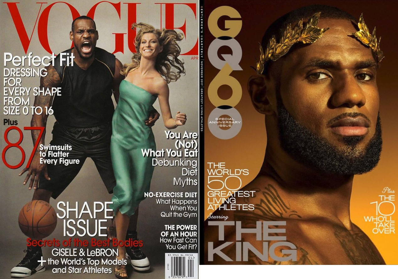 LeBron James su Vogue e GQ