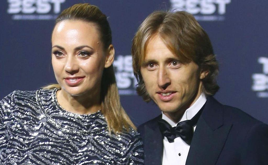 Luka Modrić con la moglie Vanja Bosnic