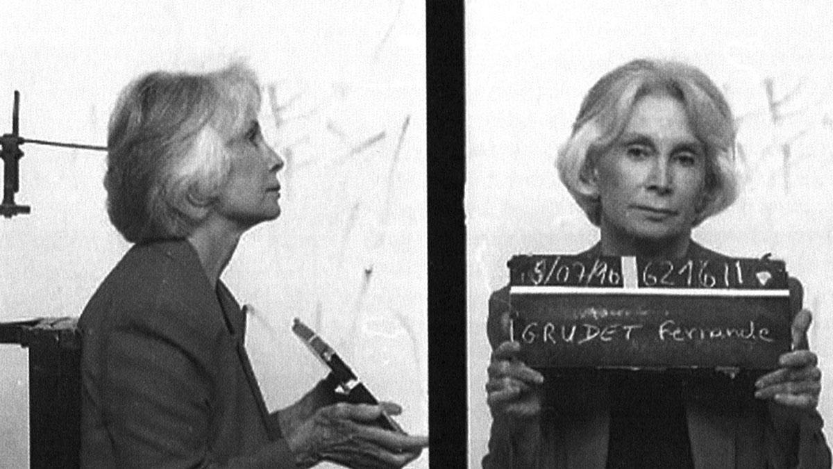 Fernande Grudet, Madame Claude, foto segnaletica dell'arresto