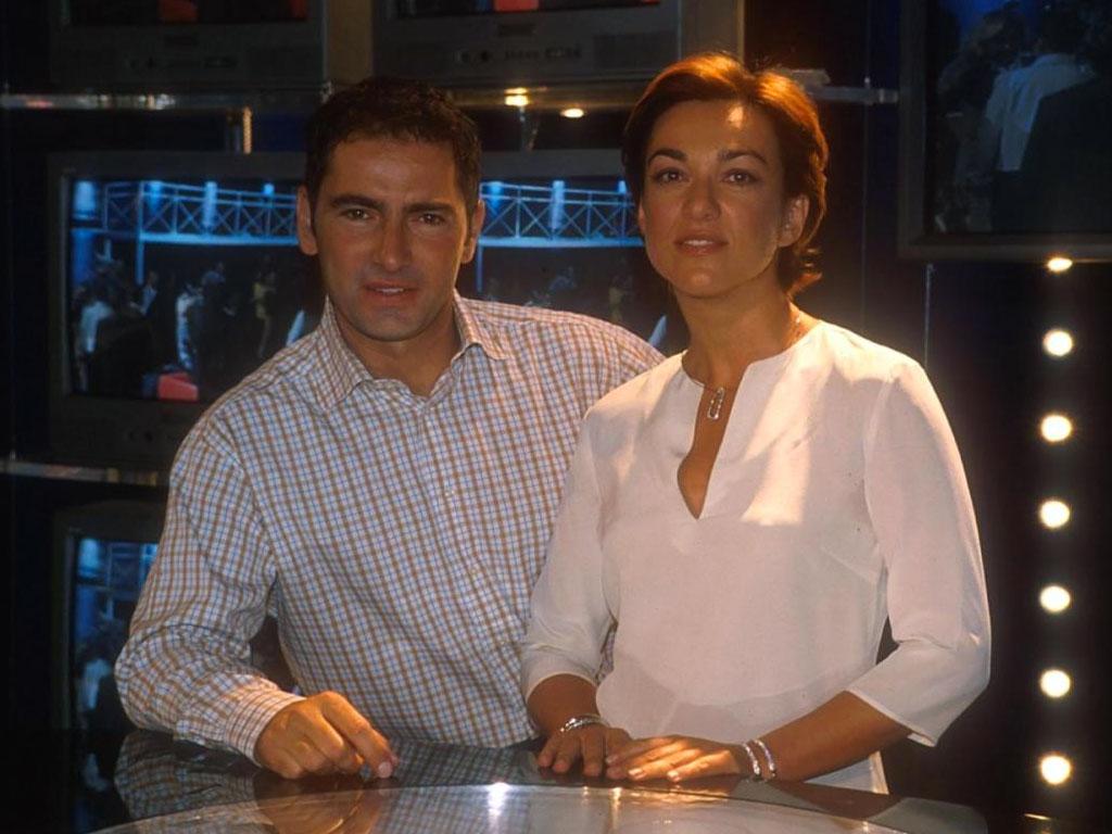 Marco Liorni con Daria Bignardi nel 2000