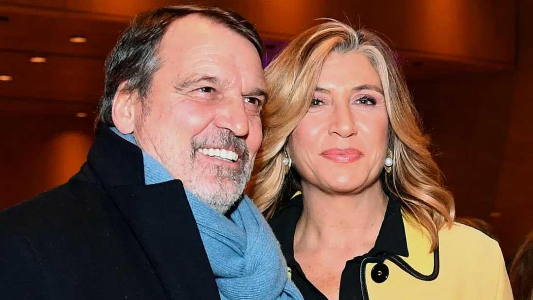Marco Tardelli con Myrta Merlino