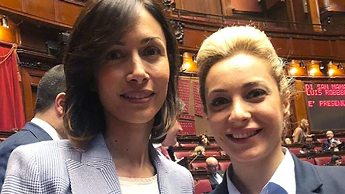 Marta Fascina con Mara Carfagna