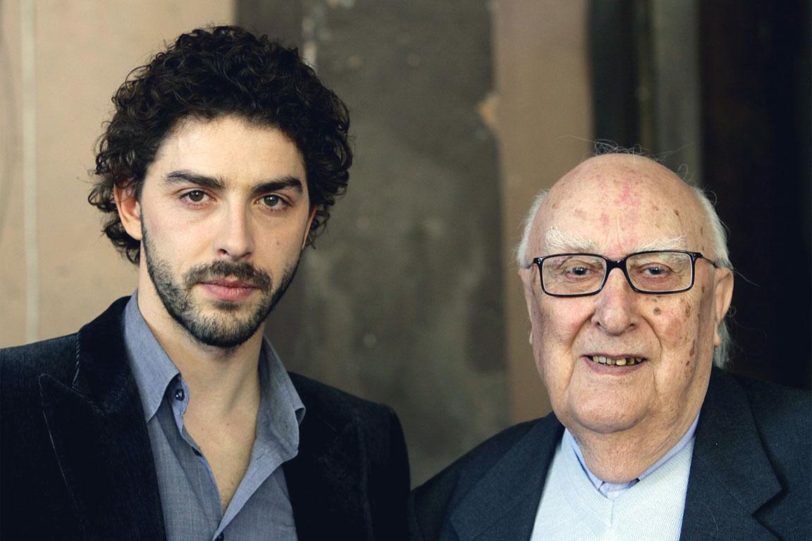 Michele Riondino con Andrea Camilleri