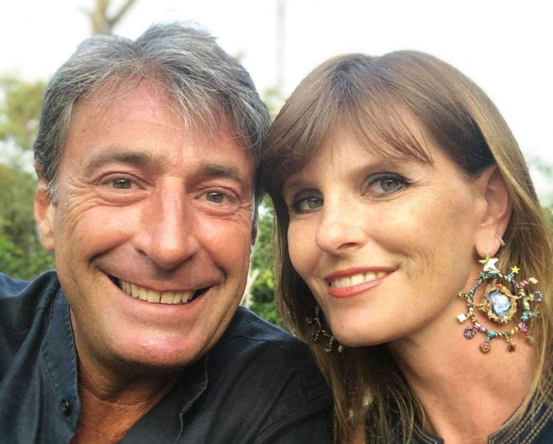 Milo Infante con la moglie Sara Venturi