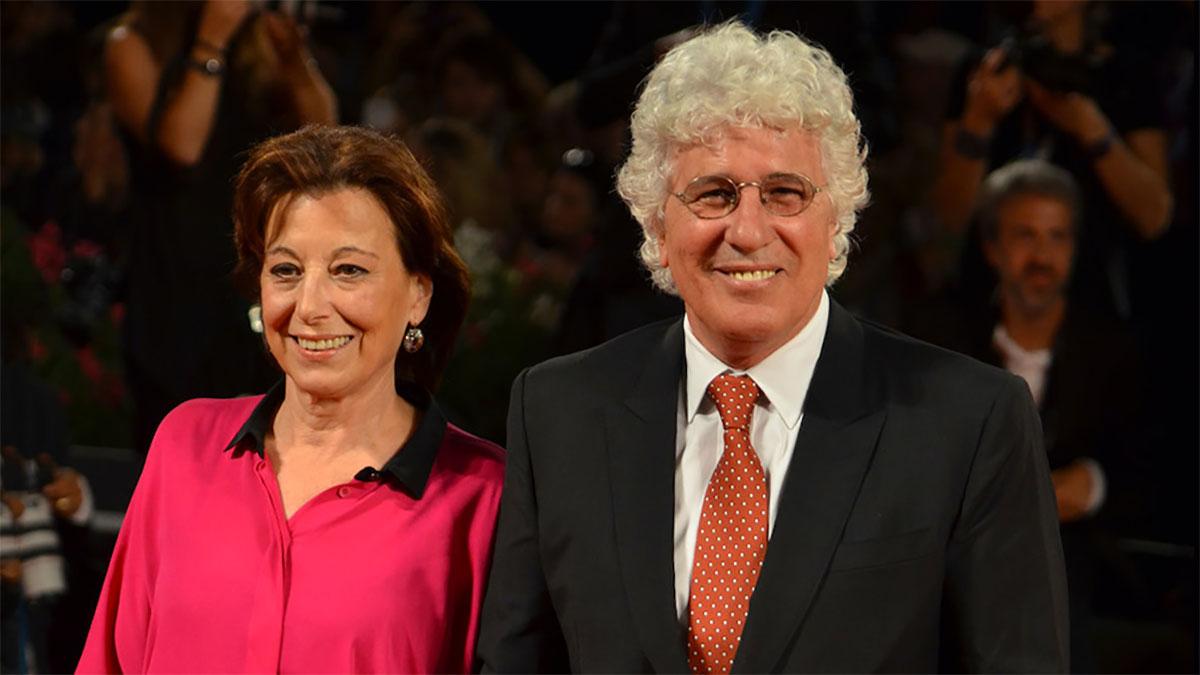Ninetto Davoli con la moglie Patrizia Carlomosti