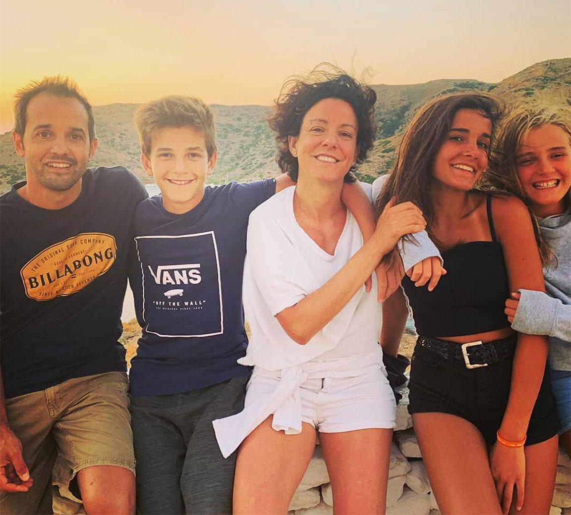Paola Pisano con la famiglia