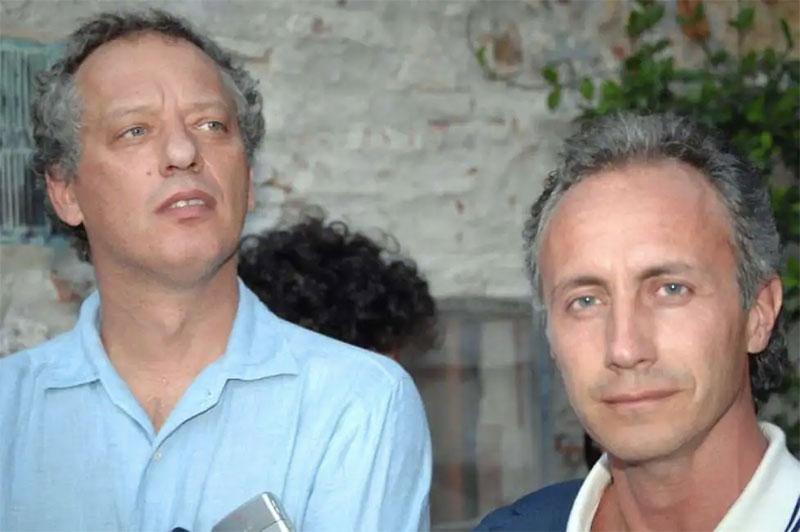 Peter Gomez con Marco Travaglio