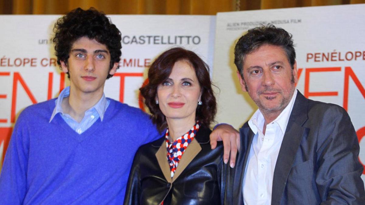 Pietro Castellitto con i genitori