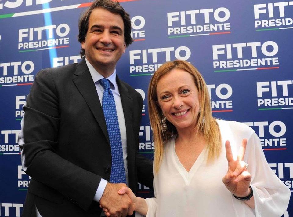 Raffaele Fitto con Giorgia Meloni