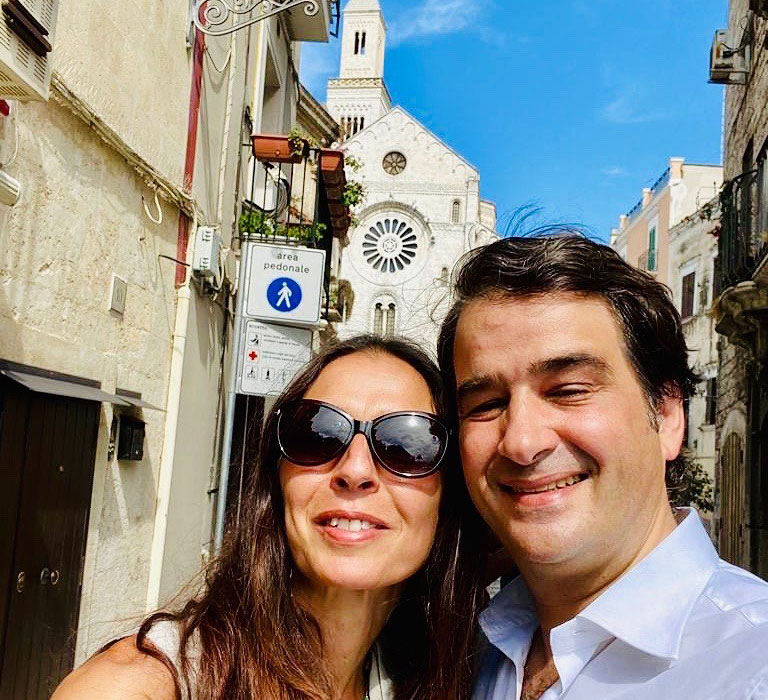 Raffaele Fitto con la moglie Adriana Panzera