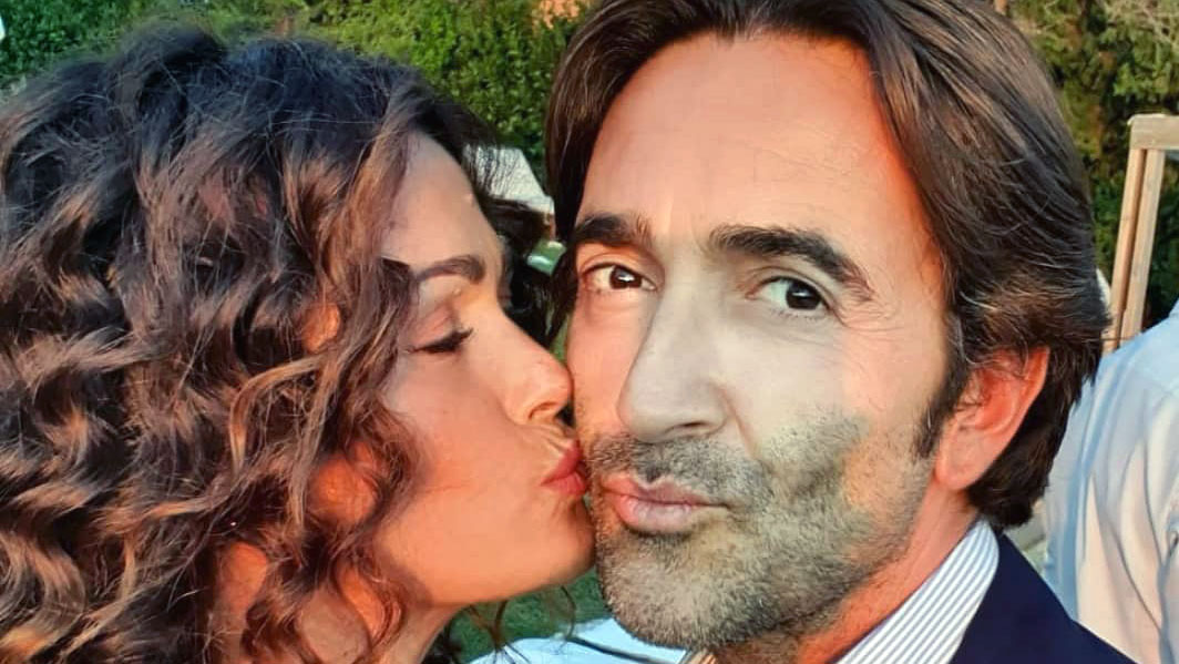 Samantha De Grenet con il marito Luca Barbato