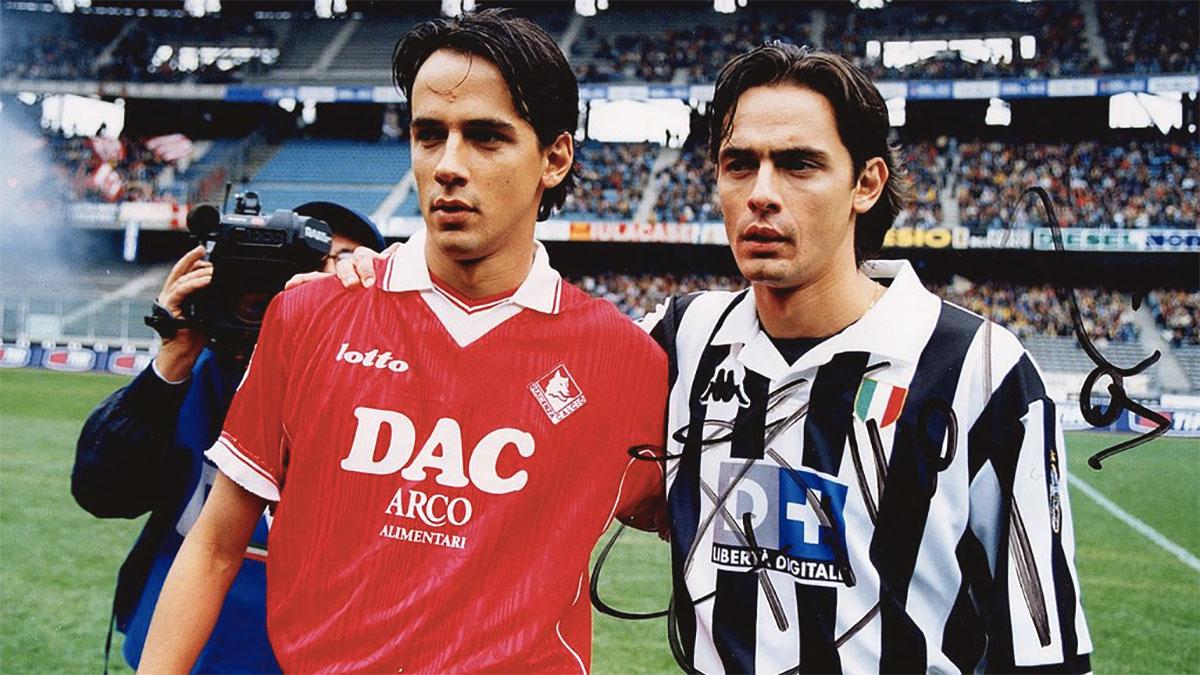Simone Inzaghi con il fratello Filippo