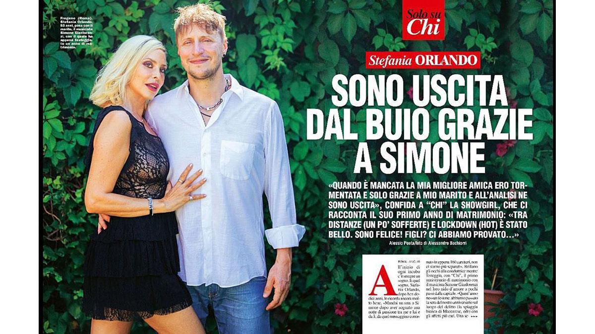 Stefania Orlando con il marito Simone