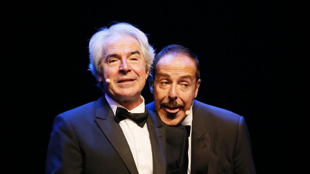 Tullio Solenghi con Massimo Lopez a teatro